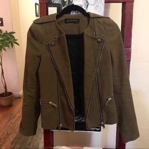 Army Green Zara Blazer / Jacket